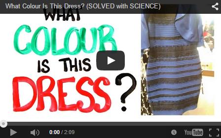 Optical illusion blue and black dress